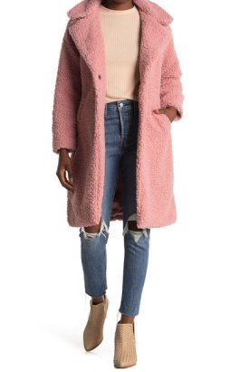 Lucky Brand Faux Shearling Mid Jacket $69.97