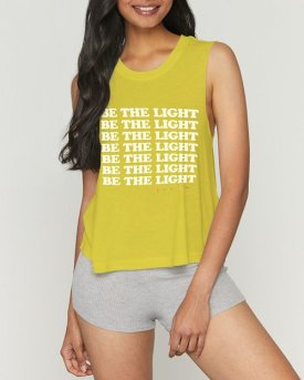 Be the Light Cropped Tank $60