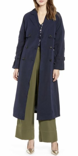 Vero Moda Valentine Long Trench Coat $79.00