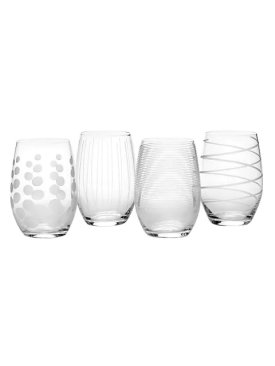 Cheers Stemless Wine Glasses Set Of 4