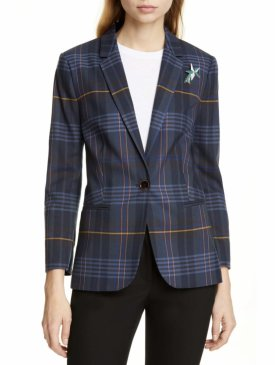 Ted Baker London Colour By Numbers Ellaria Windowpane Check Blazer $349.00