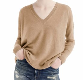 J.Crew V Neck Boyfriend Cashmere Sweater $128.00