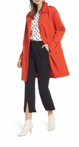 Something Navy Easy Oversize Trench $139.00