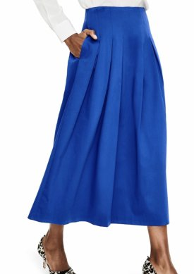 Boden Theodora Pleat Midi Skirt $125.00