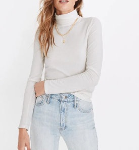 Madewell Ribbed Turtleneck $31.50