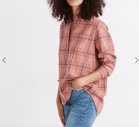 Madewell Flannel Popover Shirt $88