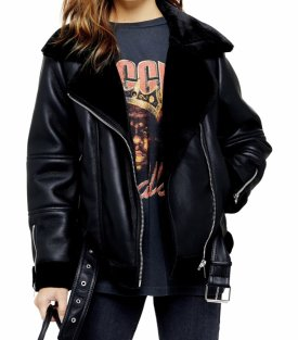 TopShop Cora Faux Leather Biker Jacket $125.00