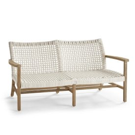 Isola Loveseat in Weathered Finish