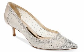 Badgley Mischka Emi Crystal Embellished Kitten Heel $215.00