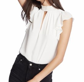 1State Smocked Neck Top $79.00