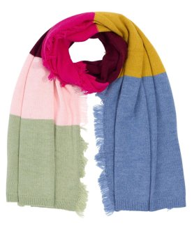 Colorblock Scarf With Side Fringe $59