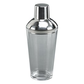 Stainless Steel Glass Bottom Cocktail Shaker