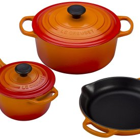 Le Creuset 5 Piece Signature Enameled Cast Iron Cookware Set