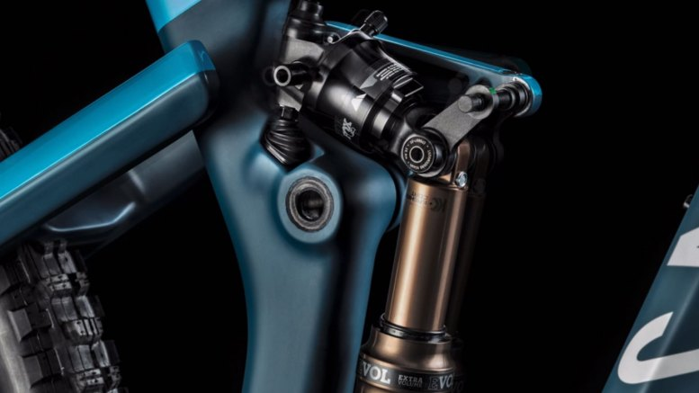 Close up of the Shapeshifter mechanism on the Canyon Strive 2019 enduro bike