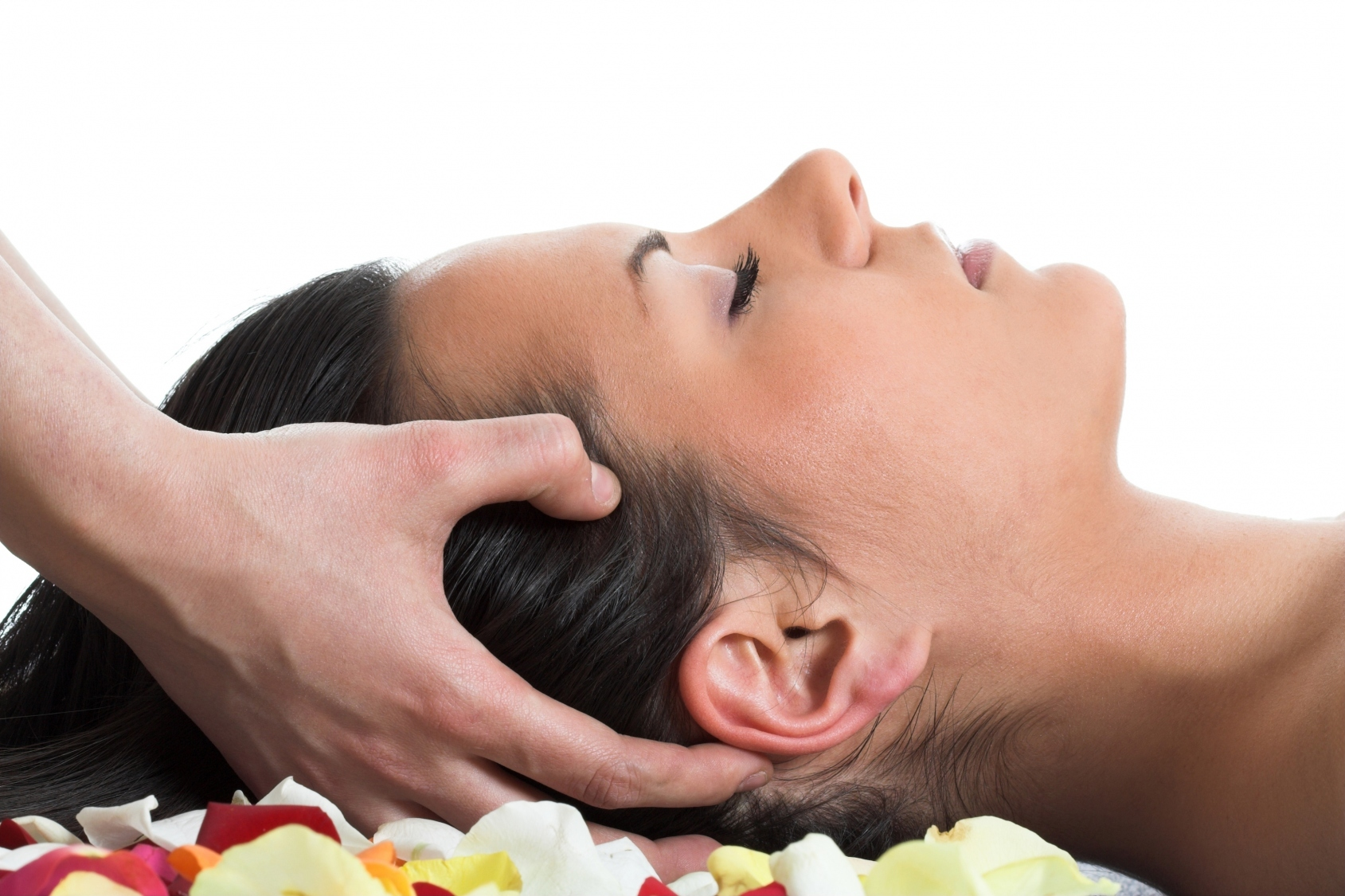 Image result for women getting head massage