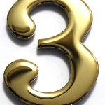 Two Inch Brass Mailbox Number Three By Better Box Mailboxes