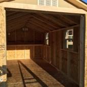 8x16x8 6'sidewalls Barn Shed inside