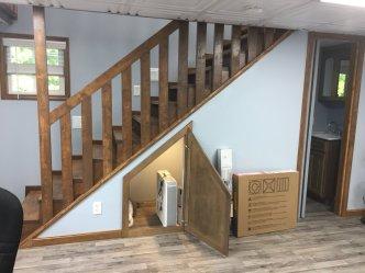 16x24 8'sidewalls barn inside