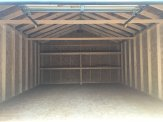 16' wide a frame with garage door inside