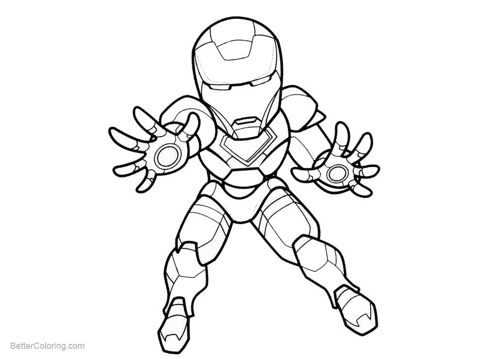 Chibi Cute Iron Man Coloring Pages Novocom Top