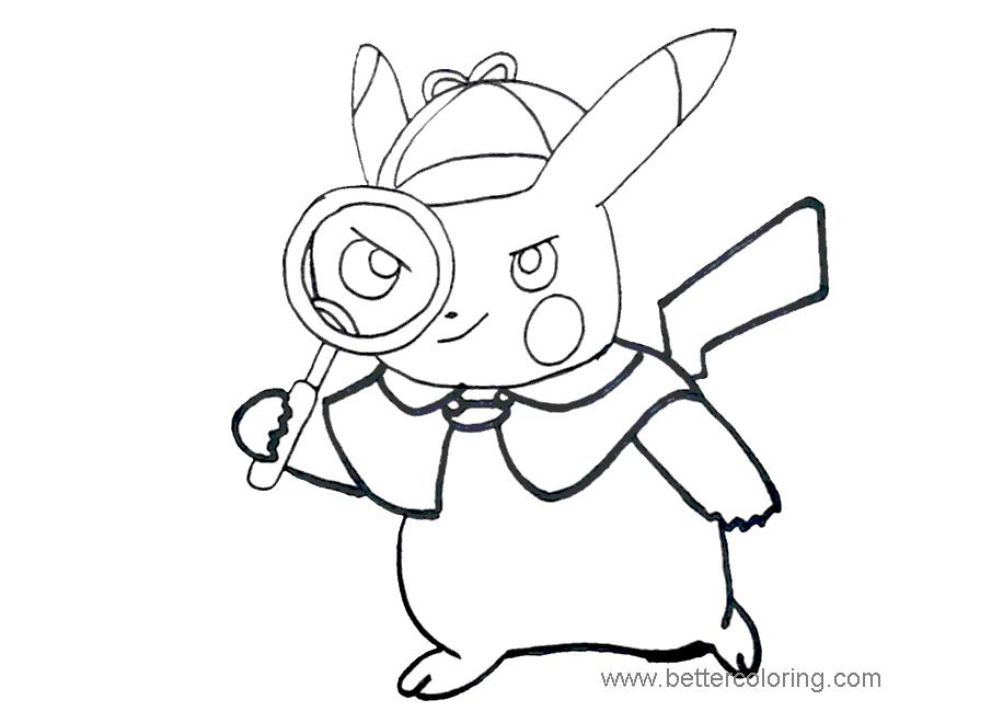 Pokemon Detective Pikachu Movie Coloring Pages Novocom Top