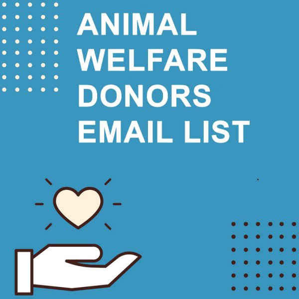 Animal Welfare Donors Email List