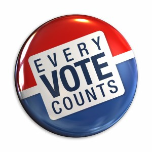 Remember, every vote counts. Try to get it right the first time.