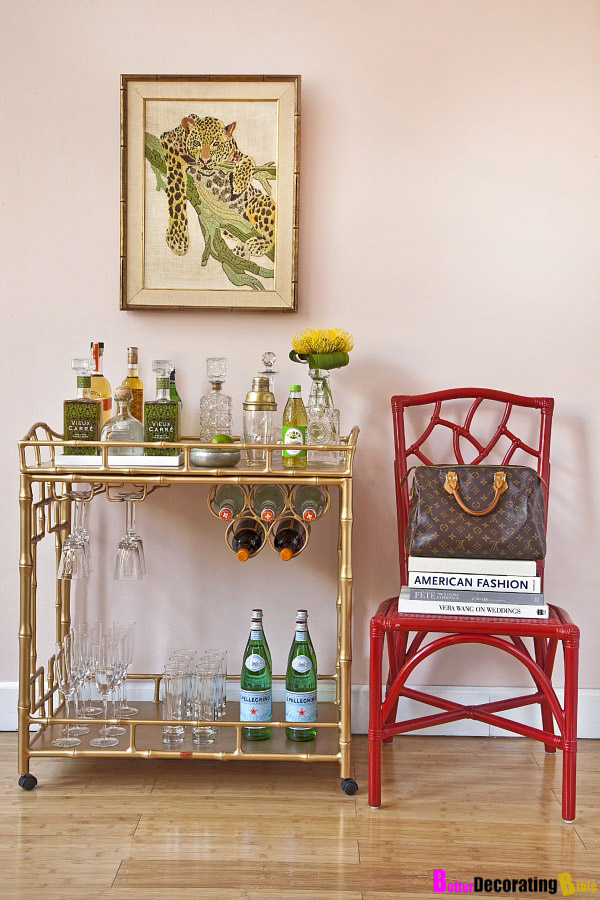 Make Your Own Mini Bar with a Bar Cart
