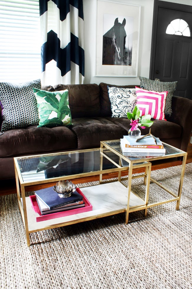 easy gold ikea coffee table hack