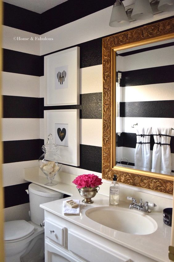 title   Black And White Bathroom Decorating Ideas