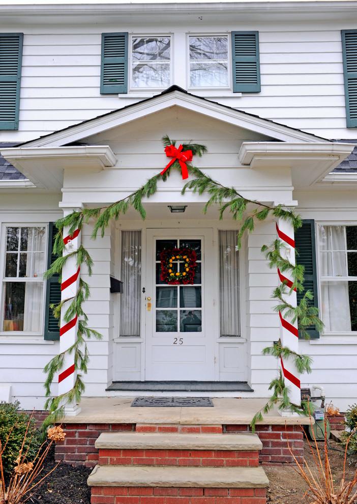 decorating porch columns for christmas | Psoriasisguru.com