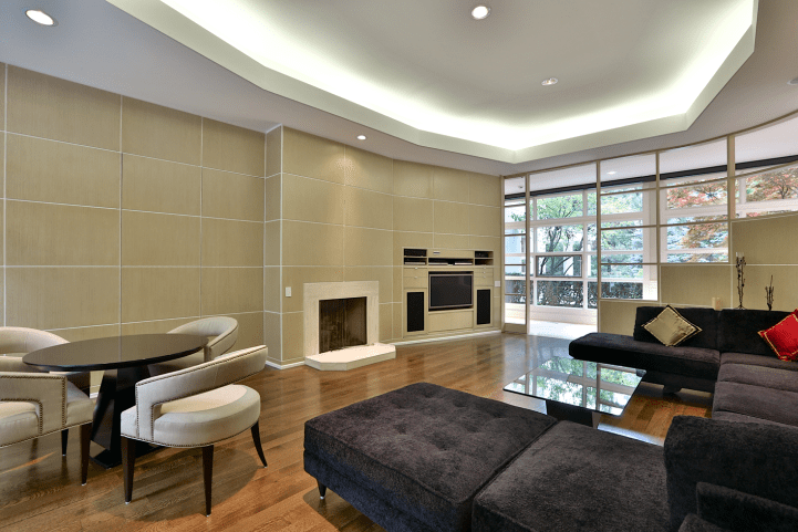 61 The Bridle Path - Family Room Towards Fireplace