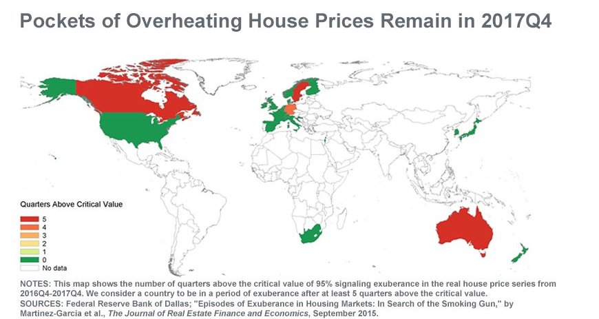 """US Federal Reserve Indicators Show Canadian Real Estate Buyers Still """"Exuberant"""" - Map"""