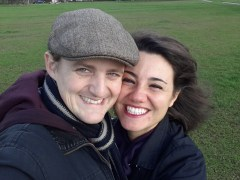 George and Mariacristina on Streatham Common