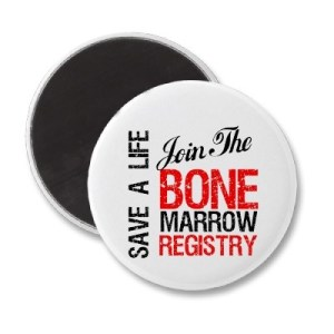 Badge: SAVE A LIFE – Join the bone marrow registry