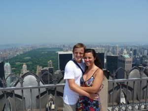 George and Mariacristina at the top of the Rockefeller Center, NY