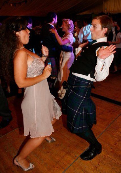Mariacristina and George dancing wildly