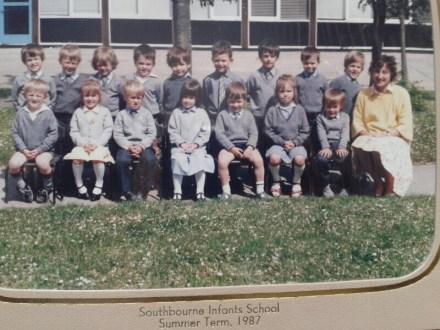 George's 1987 school photo