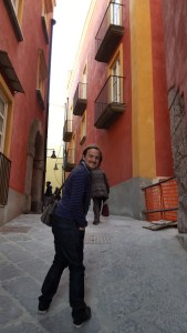 George in the streets of Rione Terra
