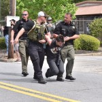 Militarized police target counter-protestors at Nazi demonstration in Newnan
