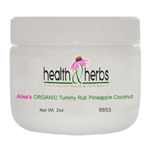 6653-Alisa's ORGANIC Tummy Rub Pineapple Coconut