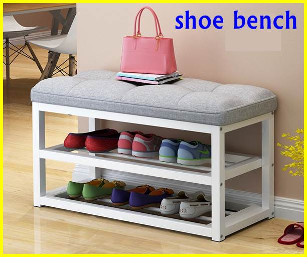 shoe bench with storage rack 2021