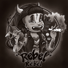 Buy this print! http://society6.com/girlxboy/rebel-rebel-grrl_print