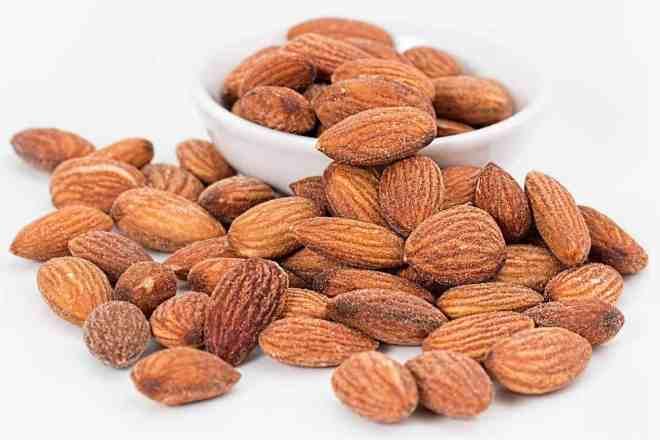 whole roasted almonds