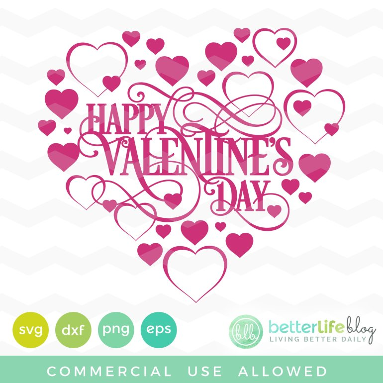 Super Cute Valentine's SVG File - This blog has tons of cute premium and free SVG Files and projects for Silhouette Cameo and Cricut Explore Maker.