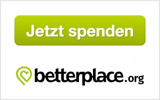Jetzt Spenden! Das Spendenformular wird von betterplace.org bereit gestellt.