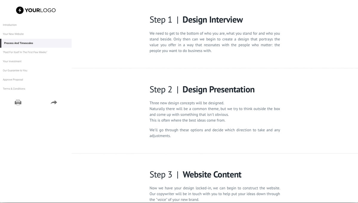This Free Ecommerce Web Design Proposal Template Won 155m