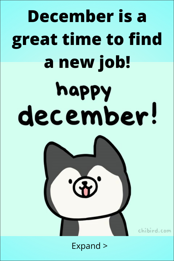 Look for a job in December
