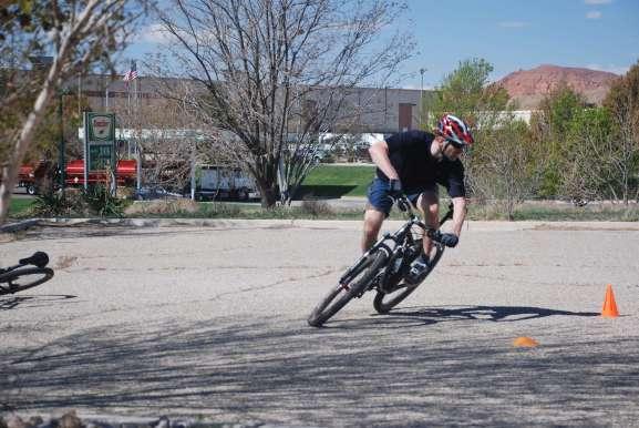 Rick Practicing is mountain bike skills