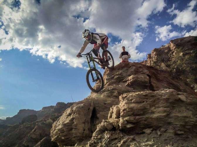 Fear when mountain biking is good!